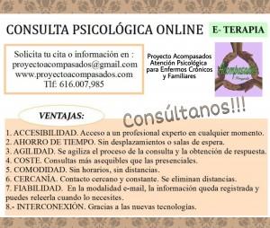 Consulta psicológica online Acompasados